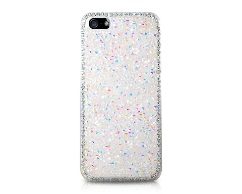Bling Diamond Series iPhone 5 and 5S Crystal Case - White