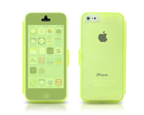 Translucent Series iPhone 5C Flip Silicone Case - Yellow