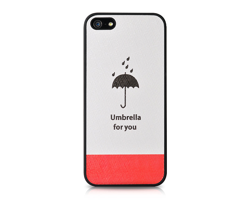 Weather Series iPhone 5 and 5S Leather Case - Umbrella