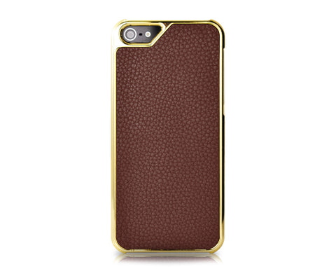 Metal Series iPhone 5 and 5S Case - Brown