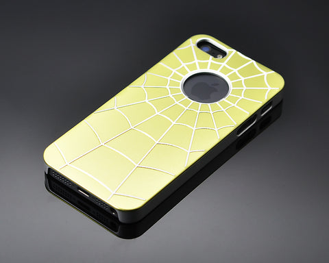 Spiderweb Series iPhone 5 and 5S Metal Case - Yellow