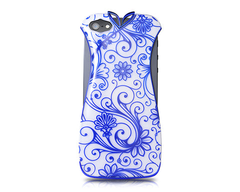 Cheongsam Series iPhone 5 and 5S Electroplate Case - Blue