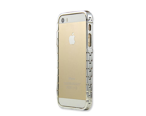 Bracelet Bumper Series iPhone 5 and 5S Metal Case - Silver