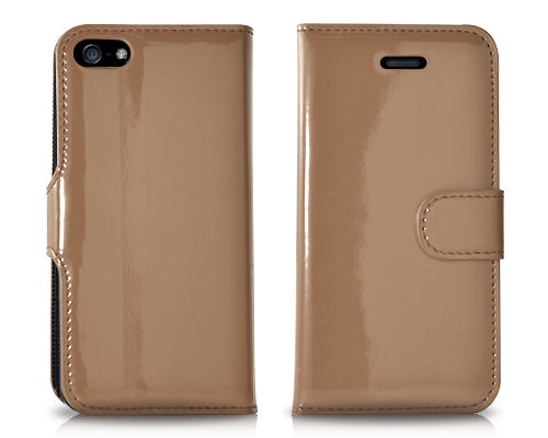 Esecutivo Series iPhone 5 and 5S Flip Leather Case - Brown