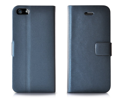Simplism Series iPhone 5 and 5S Flip Leather Case - Blue