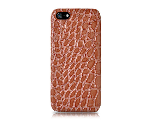 Krokodil Series iPhone 5 and 5S Leather Case - Brown