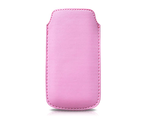 Ultra Slim Series iPhone 5 and 5S Leather Pouch - Pink