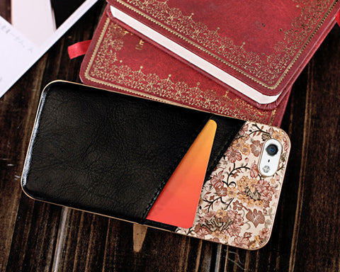 Saika Series iPhone 5 and 5S Leather Case - Black