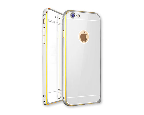Stylish Bumper Series iPhone 6 Aluminum Case - Silver