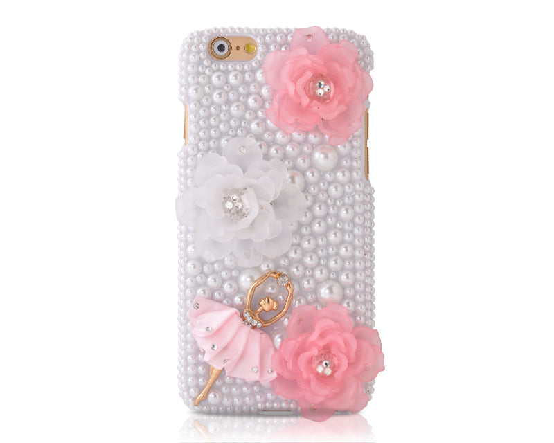 3D Flower Series Bling iPhone 6 Plus Crystal Case (5.5 inches) - Girl