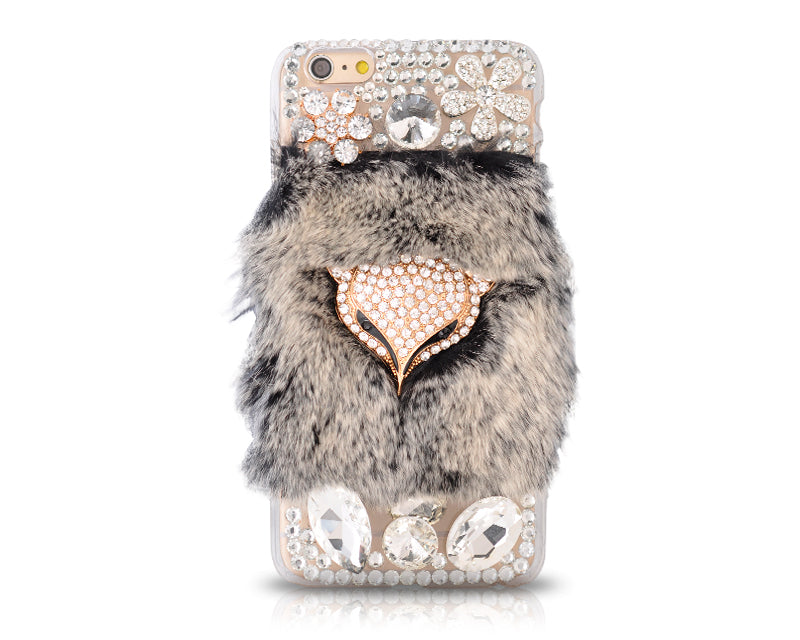 Furry Series Bling iPhone 6 Plus Crystal Case (5.5 inches) - Black