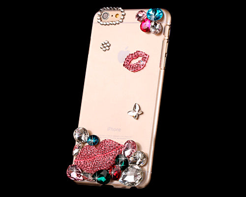 3D Diamond Series iPhone 6 Plus Crystal Case (5.5 inches) - Sexy Lips