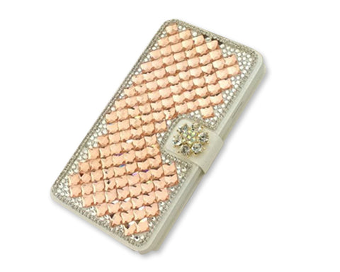 Diamond Series iPhone 6 Plus and 6S Plus Flip Leather Case -Snowflake