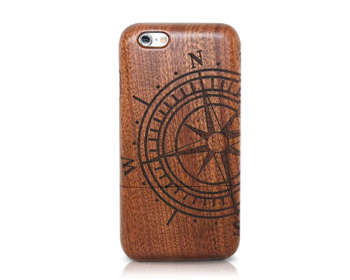 Genuine Wood Series iPhone 6 Plus Case (5.5 inches) - Nautical Needle