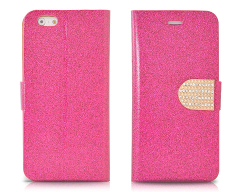 Twinkle Series iPhone 6 and 6S Flip Leather Case - Magenta