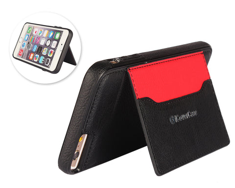Card Slot Series iPhone 6 and 6S Leather Case - Black