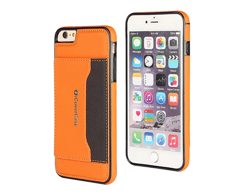 Card Slot Series iPhone 6 and 6S Leather Case - Orange