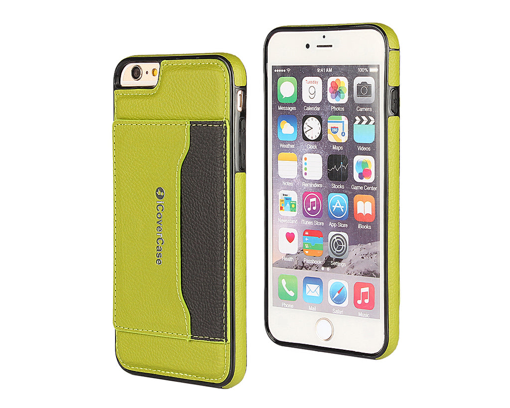 Card Slot Series iPhone 6 and 6S Leather Case - Green