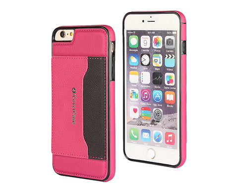 Card Slot Series iPhone 6 and 6S Leather Case - Magenta