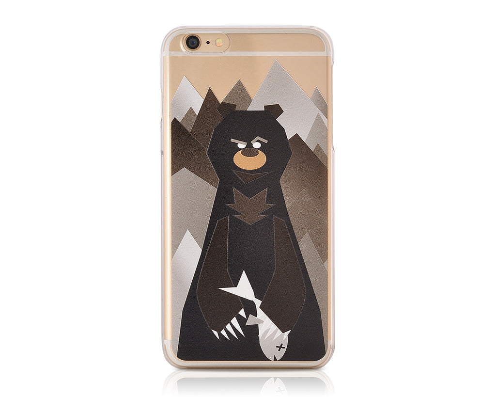 Mr. Bear Series iPhone 6 and 6S Case - Black Bear