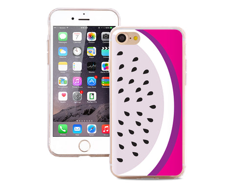 Fruit Series TPU Bumper and PC Clear Hard iPhone 7 Case - Dragon Fruit