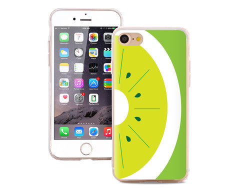 Fruit Series TPU Bumper and PC Clear Hard iPhone 7 Case - Lime