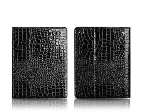Krokodil Series iPad Air Flip Leather Case - Black