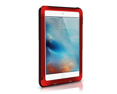 Waterproof Series iPad Mini 4 Metal Case - Red