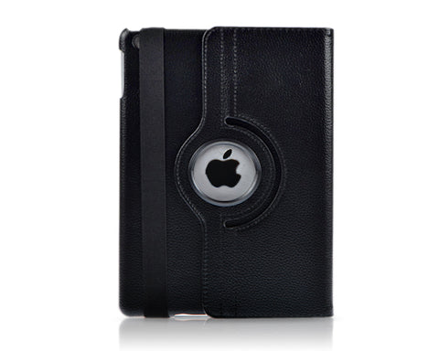 Rotating Series iPad Mini 4 Flip Leather Case - Black