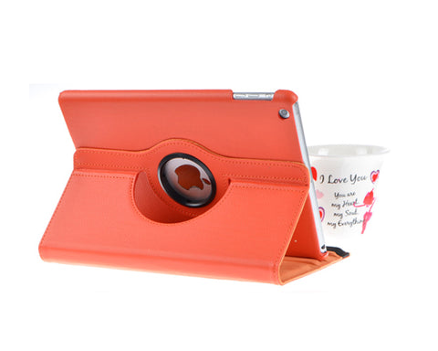 Rotating Series iPad Mini 4 Flip Leather Case - Orange
