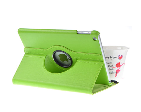 Rotating Series iPad Mini 4 Flip Leather Case - Green