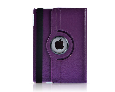Rotating Series iPad Mini 4 Flip Leather Case - Purple