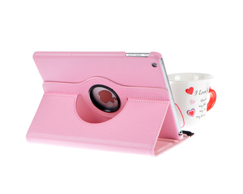 Rotating Series iPad Mini 4 Flip Leather Case - Pink