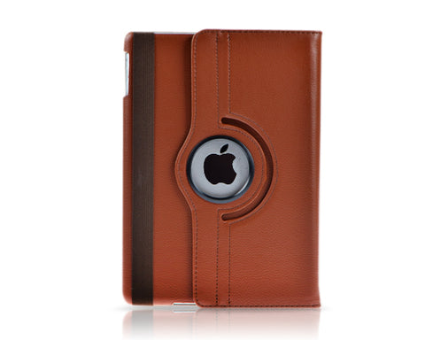 Rotating Series iPad Mini 4 Flip Leather Case - Brown