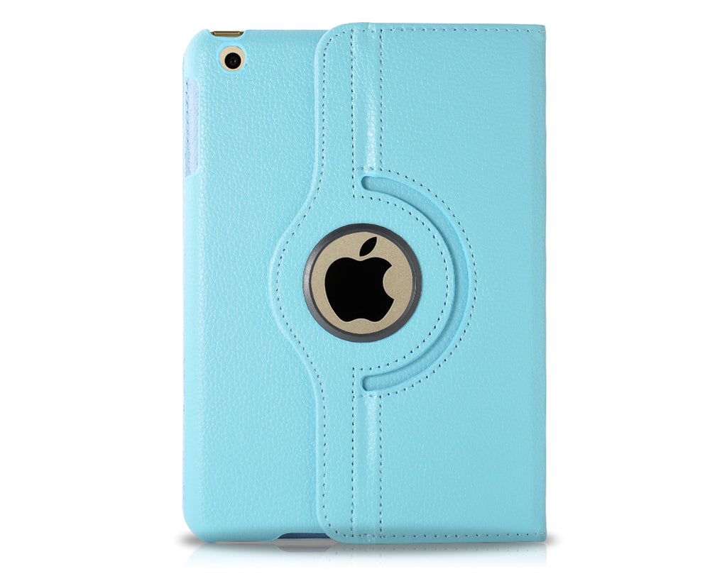 Rotating Series iPad Mini 4 Flip Leather Case - Sky Blue