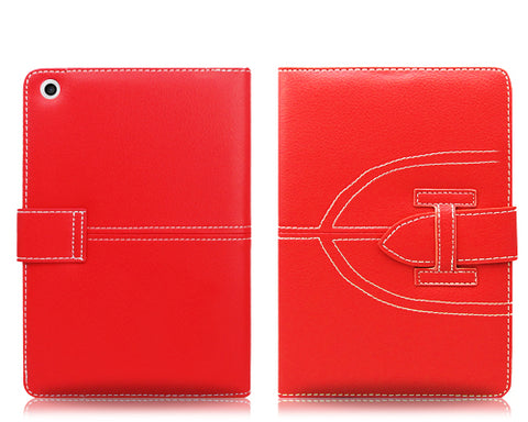 Briefcase Series iPad Mini Flip Leather Case - Red
