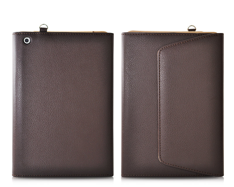 Wallet Series iPad Mini Leather Case - Brown
