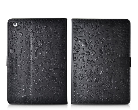 Calore Series iPad Mini Flip Leather Case - Black