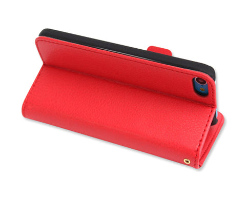 Liscio Series iPod Touch 5 Flip Leather Case - Red