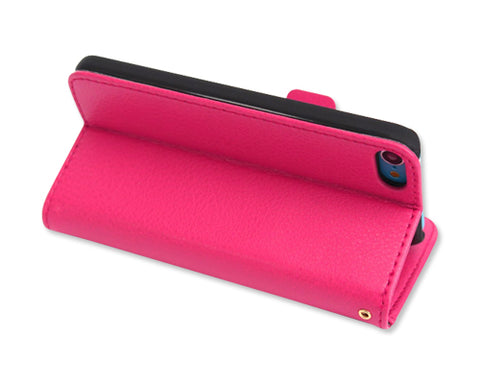 Liscio Series iPod Touch 5 Flip Leather Case - Magenta