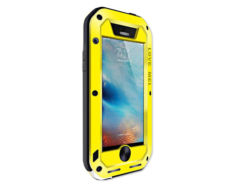 Waterproof Series iPhone SE Metal Case - Yellow