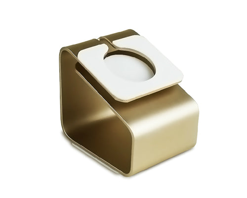 Elegant Metal Charging Stand Dock for 38mm / 42mm Apple Watch - Gold