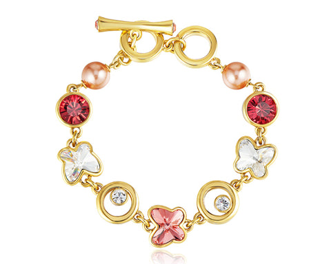 Adorned Butterfly Bling Swarovski Crystal Bracelet