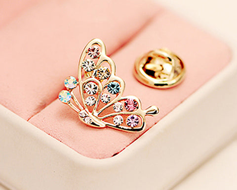 Butterfly Crystal Brooch Pin