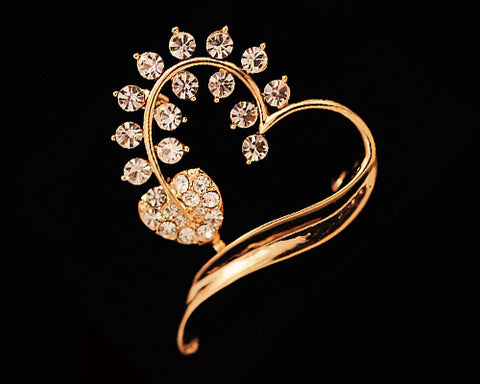 My Sweet Heart Crystal Brooch Pin