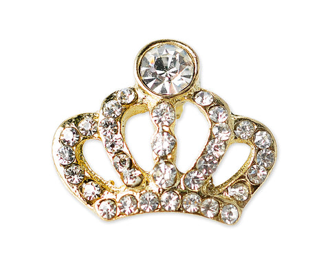 The Royal Crown Crystal Brooch Pin