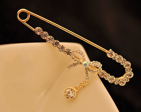 Little Ribbon Crystal Brooch Pin