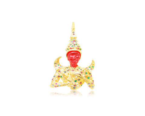 Thai Buddha Brooch Pin