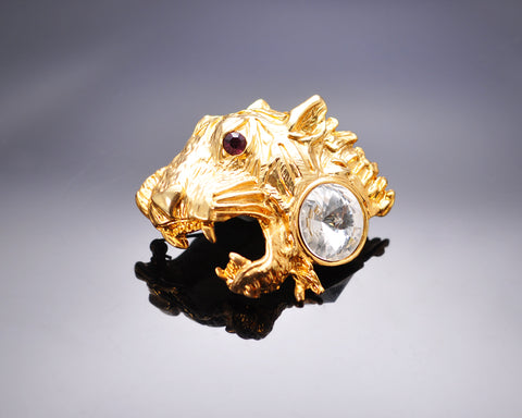 Tiger King Brooch Pin