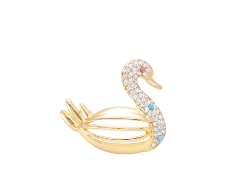 Noble Swan Brooch Pin